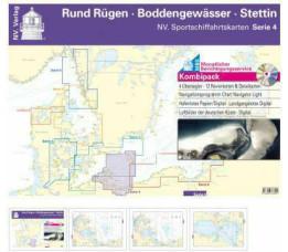 NV Atlas Serie 4 - Rund Rügen - Boddengewässer - Stettin