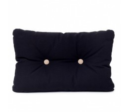 Cushion black with brown buttons