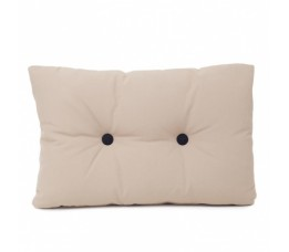 Cushion brown with black buttons