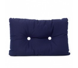 Cushion navy with white buttons