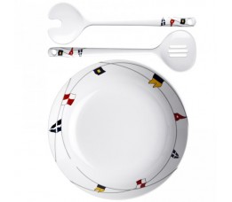 12008 - Regata Salad Bowl + Serve Cutlery - 1 set