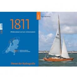 Hydrografische kaart 1811 Waddenzee West 2020