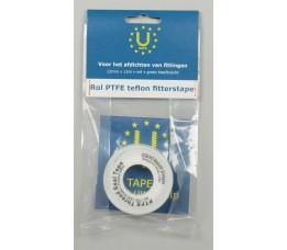 PTFE teflon fitterstape, 12mm x 12m, wit