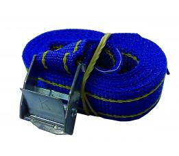 Spanband 2m met gesp, blauw