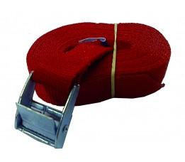 Spanband 3,5m met gesp, rood
