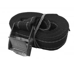 Spanband 2,5m met gesp, zwart
